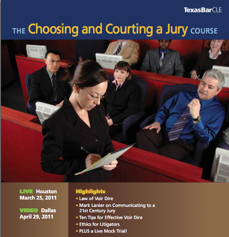 The Choosing and Courting a Jury Image - March 25